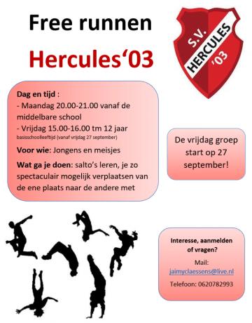 Free runnen S.V. Hercules'03